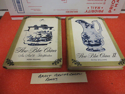 LOT OF 2 PETRA WILLIAMS HARDCOVERS FLOW BLUE CHINA I II how to identify
