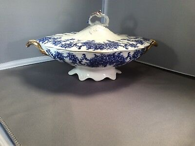 Blue &a White vegetable tureen