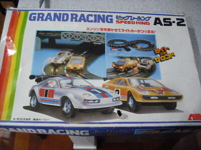 Vintage Speed King Grand Racing Track Slot Car Set With Lotus And Porsche