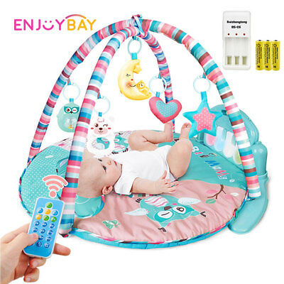 3in1 Baby Music Play Mat Lullaby Fitness Rack Toy Gym Crawling Rack Toys f/ Kid