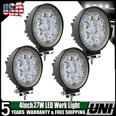 4inch LED Work Lights Fog Lamps Tractor Trailer Combo Kit John Deere Driving 4X