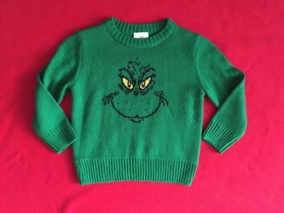 EUC Kids Christmas sweater size 4T Grinch