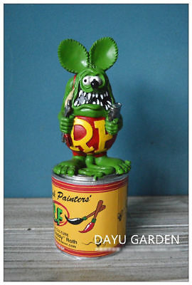 "Rat Fink Collection Paint Custom Can Painters' 8"" Statue Figure Green Ed Roth"