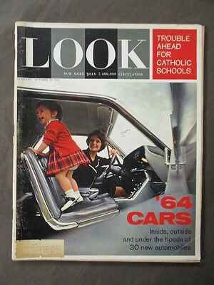 Vintage Look Magazine October 22 1963 - 1964 Cars cover