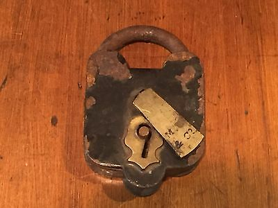 Antique Civil War Era Mallory, Wheeler & Co. Padlock c. 1860s