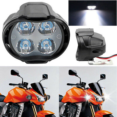 Motorcycle Vehicle Headlight Spot Lights Head Lamp 4 LED Front DC 12V Driving
