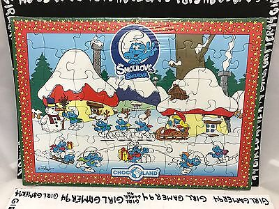 48 Pce Christmas/Winter Themed Blue Smurf Kids Puzzle - Smoulove Smolkovia - NEW