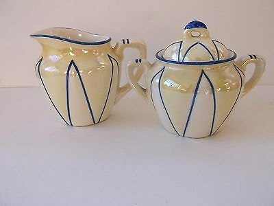 Vintage Antique Sugar and Creamer Czecho Slovakia