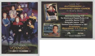 """1999 STAR TREK VOYAGER SKYBOX """"CLOSER to HOME"""" PROMO TRADING CARD - NEW"""