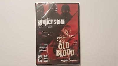 New Sealed Wolfenstein: The New Order and The Old Blood Two-Pack - PC DVD