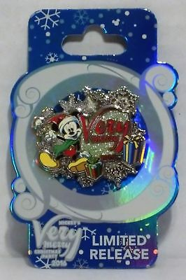 Disney Parks 2016 Mickeys Very Merry Christmas Party LR Limited Release Pin NOC