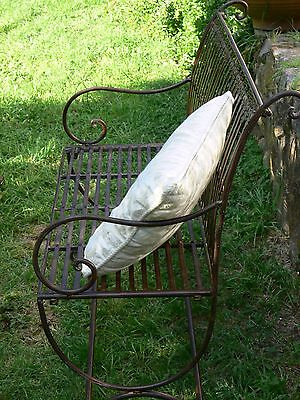 XXL FRENCH DESIGN classical antique  garden bench outdoor wrought iron  QUALITY
