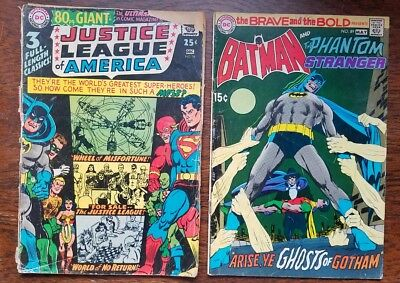 1967 Justice League Dec 58 & Brave and Bold Batman May 89 1970