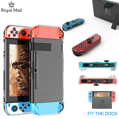 NEW Clear Shockproof Hard Protective Case Cover For Nintendo Switch Console Game