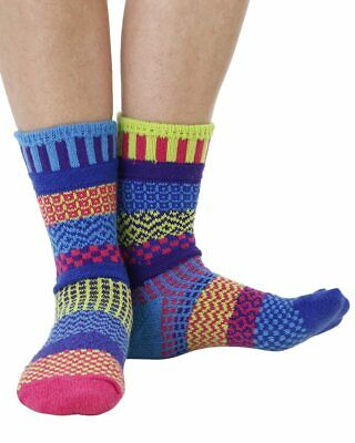 Water Lily recycled cotton multicolour odd-socksCrafted by Solmate