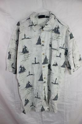 Vintage 80s ROUTE 66 Punk New Wave SURF ELECTRO BUTTON UP SHIRT XL Indie Grunge