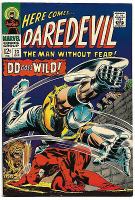 DAREDEVIL #23 VF+ 8.5 High Grade Classic Gladiator Cover BEAUTIFUL COLORS!
