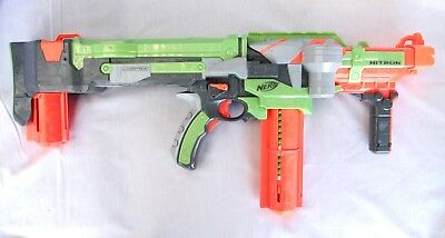 NERF Vortex Nitron Semi-Automatic Disc Shooter with Clip & Discs Tested Working