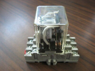 GE CR420HPA0224 Cube Relay With Base  (8 Pin Square, 24 VDC Coil )