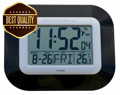 Radio Controlled LCD Wall Mountable and Desk Clock ( UK & Ireland Version )...