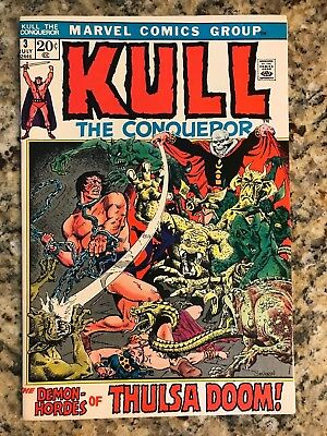 Kull The Conqueror #3 Vf 8.0 / White Pages / Marvel Comic