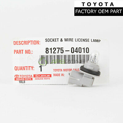 Genuine Toyota Tundra License Lamp Socket And Wire Rear Light Oem 81275-04010