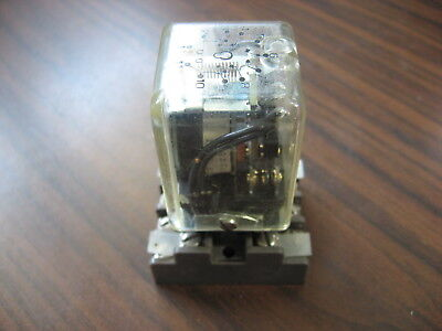 Eagle Signal 24Q3CA120 Cube Relay With Base  (11 Pin Round, 120 VAC Coil )