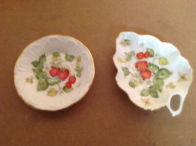Queens Virginia Strawberry Trinket Tray And Other.