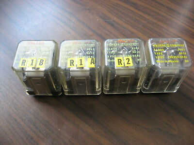 Lot of 4 Square D 8501 KU13 Cube Relays  (11 Pin Square, 120 VAC Coil )