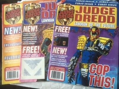 Judge Dredd Lawman Of The Future 1-14 & Free Gifts In Ex Condition 2000Ad