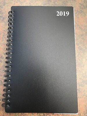 Signature 2019 Spiral Planner Weekly/Monthly Calendar Student Agenda 5x8 BLACK