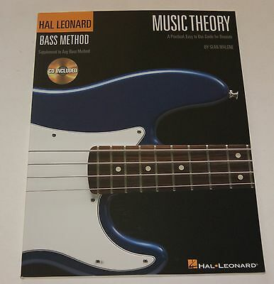 Hal Leonard Bass Method Music Theory Bassgitarre Lernmethode Notenbuch CD NEU