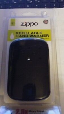 Zippo BLACK Refillable Deluxe Hand Warmer w/ Pouch 40311 12 hour