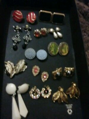 Pretty Job Lot Bundle Of Mainly Vintage Earrings Costume Jewellery