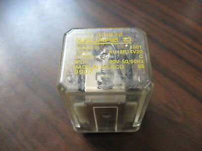 Square D 8501 KU13P14V20 Cube Relay  (11 Pin Square, 120 VAC Coil )