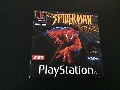 Spider-Man Manual - Sony PlayStation PS1 - Instructions Manual Only