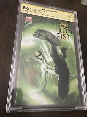 The Immortal Iron Fist 1 2nd Print Variant CBCS SS 9.6 Dell'Otto In Gold Not CGC
