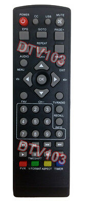 Brand New IR Remote Replacement For Digital ATSC TV Tuner Box