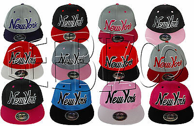 New York Flat Peak Unisex Mens Women's Snapback Hip Hop Baseball Cap Hat