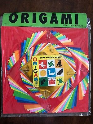 "New One Package of 55 Sheets Origami Solid Color Paper ""10x10"" Sz W/Instructions"