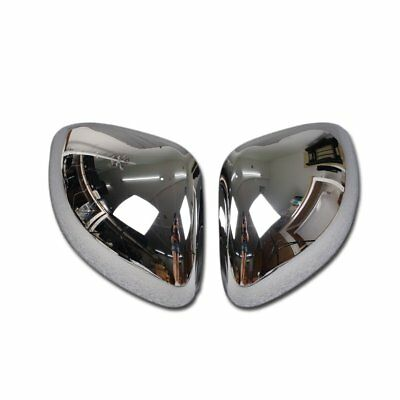 For Fiat 500X 2016-2018 Chrome Rear View Mirror Guard Cover Trims