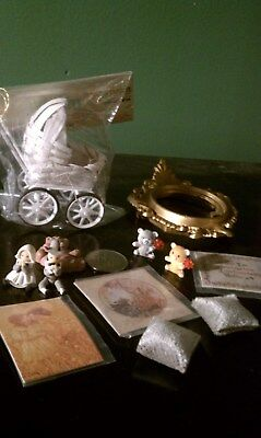 Dollhouse Miniatures Lot 12 Baby Girl Carriage