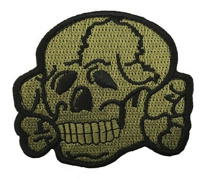 Green Anarchy Skull Racer Hook Patch (3 Inch)