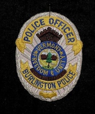 Police Officer Burlington Police Vermont Freedom & Unity -Possible Free Shipping