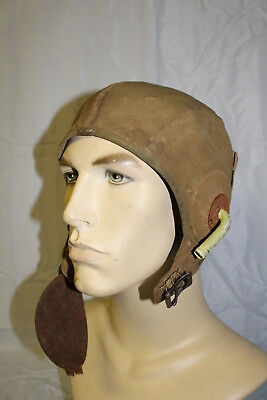Wwii Aaf Us Army Air Force Cadet Flight Helmet With Gosports