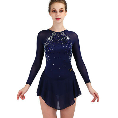 Figure skating dress women's Siamese performance / professional skating dress