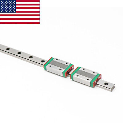 ZYLtech MGN12 Linear Rail with TWO Carriage Bearing Blocks 300 400 500 mm