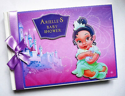 Personalised Disney Princess Tiana Girls /first/1St Birthday Guest Book