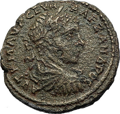 SEVERUS ALEXANDER Authentic Ancient DIONYSOPOLIS Roman Coin w GREAT GOD i71172