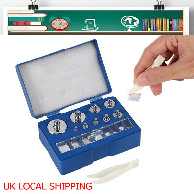 17pc 211.1g 10mg-100g Grams Precision Steel Calibration Weight Digital Set Scale